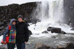 Wasserfall in Þingvellir