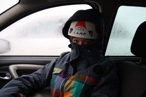 Larissa mit Helm